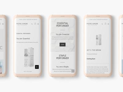 Mobile e-commerce design
