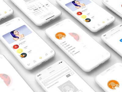 Music Application | Streaming Audio icon typography illustration animation page app logo application design ux ui animated web interface