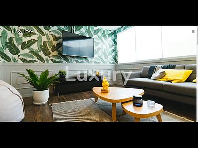 Luxury Dribbble Video animation landing page typography illustration luxury brand luxury design luxury branding landing page application bootstrap animation web animated web interface site ui ux design