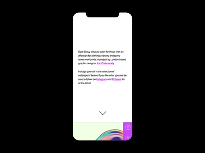 Opal Gravy Redesign – Mobile mobile wallpaper website web ux vibrant ui illustration idnetity abstract design branding agency colour color branding abstract