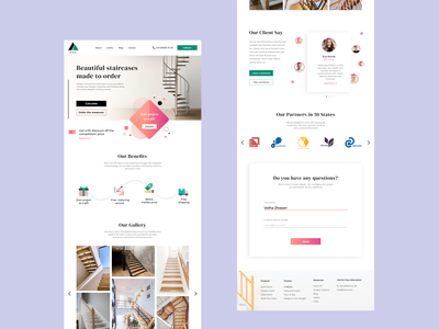 Staircases made to order webdesign staircase ui website web marketing design