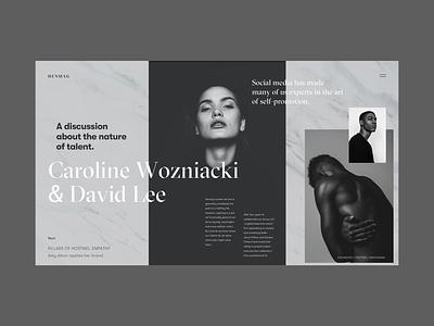 HENMAG Online Magazine Copenhagen black  white adjustment magazine fonts typogaphy web deisgn interface fashion magazine branding landing page grid fashion fashion blog design blog ux ui