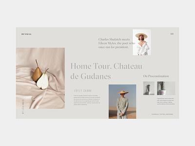 HENMAG online magazine special issue brand landing page home page web deisgn editorial typogaphy layout blog grid fashion blog fashion magazine fashion ux ui interface