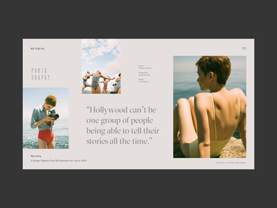 Article page photo grid with horizontal scroll landing page desktop homepage editorial concept branding web deisgn typogaphy fashion magazine fashion blog fashion blog ux ui interface grid