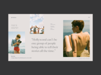 Article page photo grid with horizontal scroll