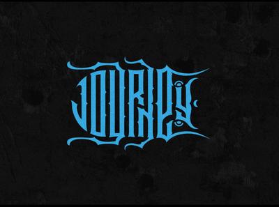 Journey / путешествие illustration logo letter typography logotype lettering