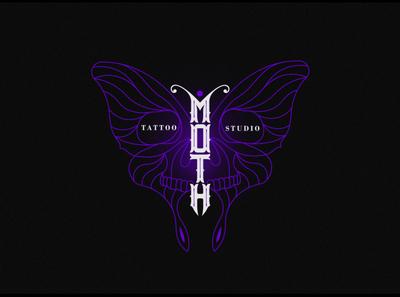 Moth illustration design typography butterfly logo butterfly logotype lettering