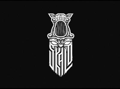 SKALD skald viking logotype lettering