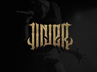 Jinjer typography gothic musician music logotype lettering