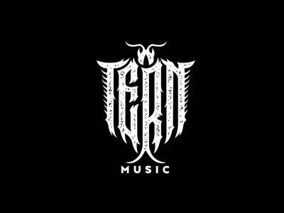 Tern music music musician gothic logotype lettering