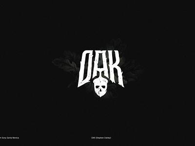 OAK oakley oak logo modern dark letter typography gothic godofwar gamedeveloper logotype lettering