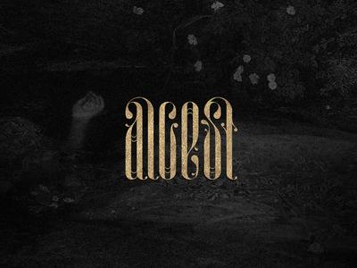 alcest modern logotype lettering
