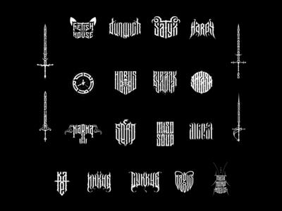 logo collection 2018-19 branding ancient skull vector demon modern dark mark logo 2d gothic logos high-style illustration logo typography letter design logofolio logotype lettering