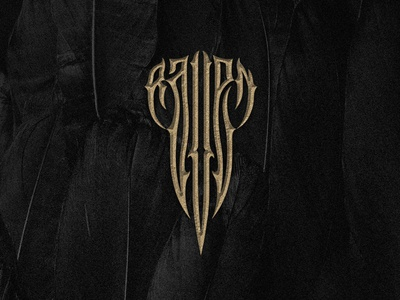 Raven dark logo crow raven logotype lettering