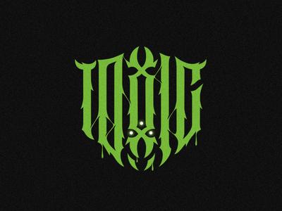 Toxic mark illustration dark gothic letter typography logo logotype lettering