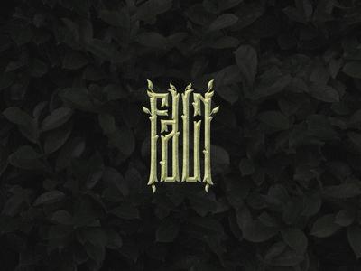 Faun logotype lettering