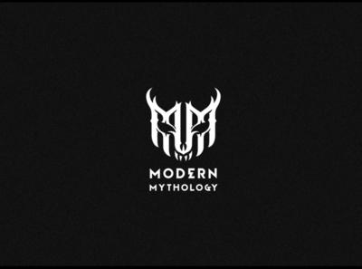 Modern mythology second version mark illustration dark logo typography letter gothic modern logotype lettering