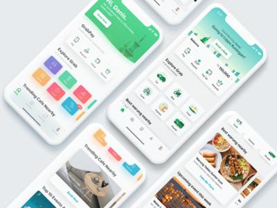 Southeast Asia Everyday App Exploration -  Grab exploration everydayapp superapp asia southeast asia grab ui app