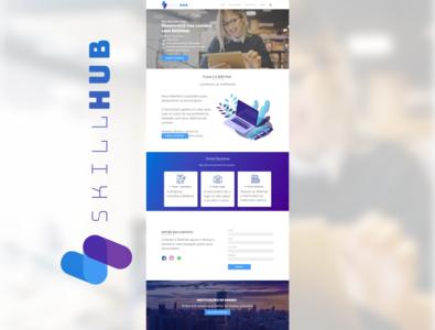 SkillHub Website prototype