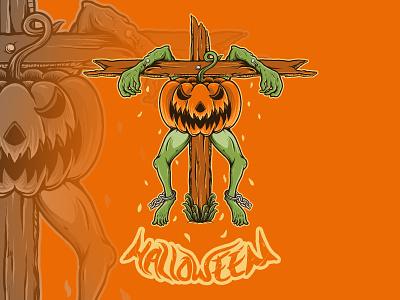 Halloween Pumpkin pumpkins card design background design grunge murder monsters charachter vector hello dribbble graphic design artworks design illustrator 2020 2020 design 2020 trends merchandise design tshirt party halloween