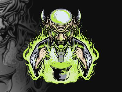 experimental monster black green graphic art branding graphic artist illustration hello dribbble charachter graphic design artworks illustrator design
