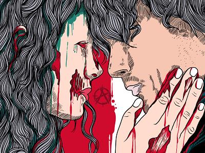 Love Zombie merch design punk rock punk merch cover art cover artwork merchandise cover design typography band graphic art charachter hello dribbble branding illustration graphic design graphic artist artworks illustrator design