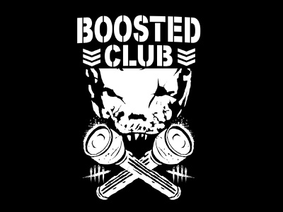 Bosted Club game rock and roll merch design merch merchandise logo charachter hello dribbble branding illustration graphic art graphic design graphic artist artworks illustrator design