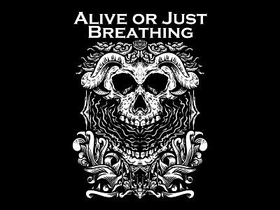 Alive Or Just Breathing bands band merch mecrh band graphic art logo charachter hello dribbble branding illustration graphic design graphic artist artworks illustrator design