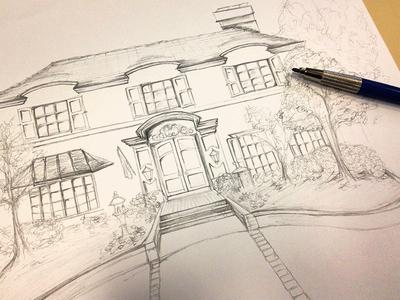 Invitation artwork invitation sketch home