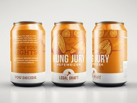 Hung Jury Hefeweizen design illustration packaging can beer