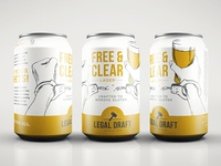 Free & Clear Gluten Free Lager design illustration packaging beer