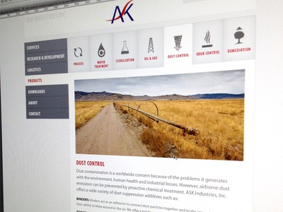 ASK website website navigation icons