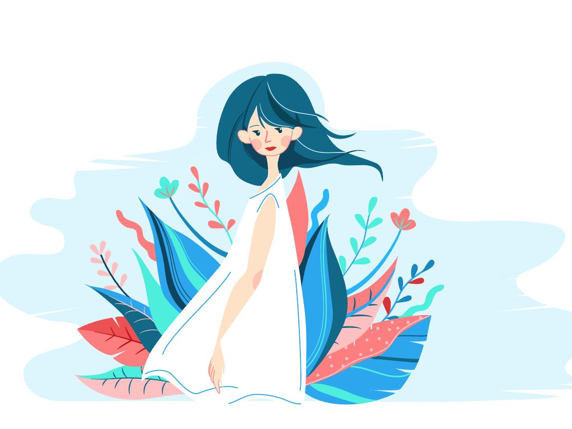 Girl art girl illustration girl character flat illustrator design vector illustration