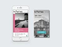 Floating - mobile landing page