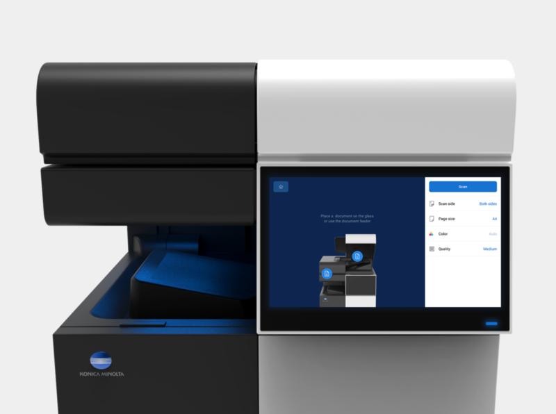 Konica Minolta MFP interface ux ui printer design
