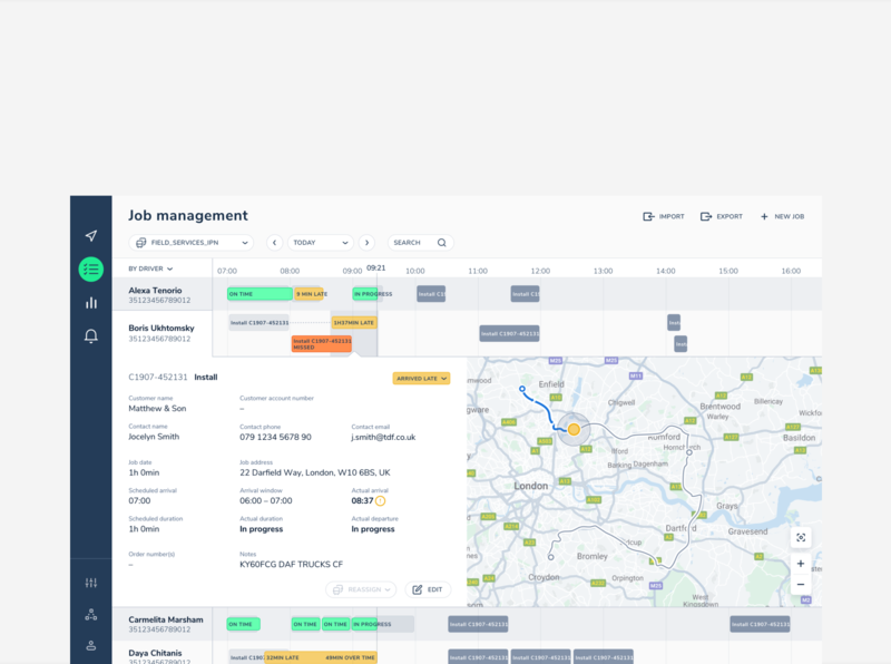 Michelin vuejs web app app interface ui ux map telematics
