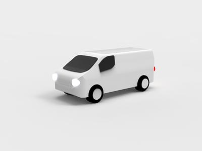 Michelin - telematics car rendering van vehicle 3d 3d art