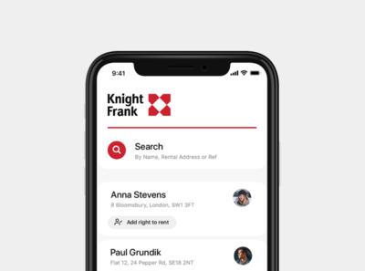 Rent Profile app design ux ui
