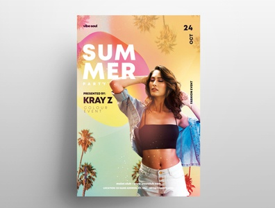 Vibe Sound Tropical Free PSD Flyer Template photoshop poster design free psd flyers template club free flyer psd flyer poster flyer