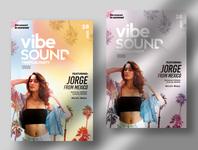 Vibe Sound Tropical PSD Flyer Template design photoshop premium summer flyer summer psd flyer