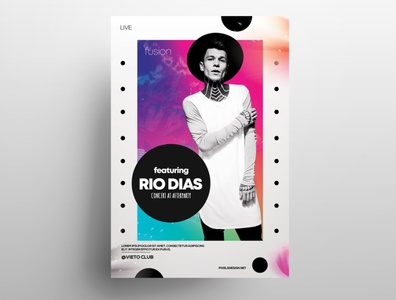 RIO - Free Concert Abstract PSD Flyer Template