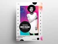 RIO - Free Concert Abstract PSD Flyer Template free psd flyers flyer design poster design graphic psd template club flyer psd flyer poster flyer