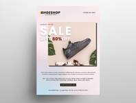 Sale Shoes Free PSD Flyer Template template print design poster design flyer design sale flyer business flyer free psd flyer freeflyer poster flyer