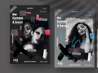 The Tunes & Beat Flyer PSD Templates design templates fashion flyer festival poster concert poster event flyer print template psd flyer psd party flyer poster design flyer design flyer poster