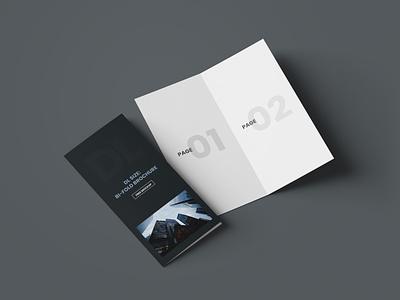 DL Bi-Fold Brochure Free Mockup photoshop freebie mockups mockup design brochure mockup bifold free mockup psd mockups