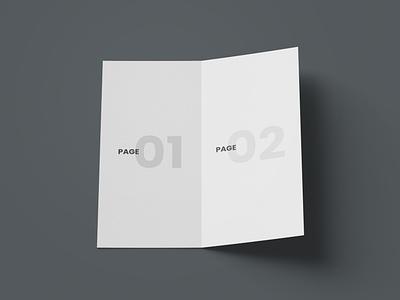 Open DL Bi-Fold Brochure Free Mockup free mockup psd dl brochure mockup bi-fold mockup brochure mockup free mockup mockup design