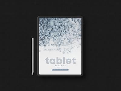 Tablet in Dark Style Free Mockup design free mockup psdmockup psd mockups