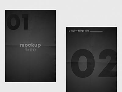 Folded Flyer Free Mockup mockup design template flyer mockup free mockups psdmockup mockups