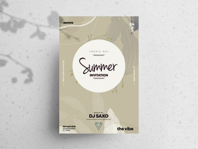 Summer Invitation Free PSD Flyer Template poster art club flyer free psd flyers psd flyer flyer poster