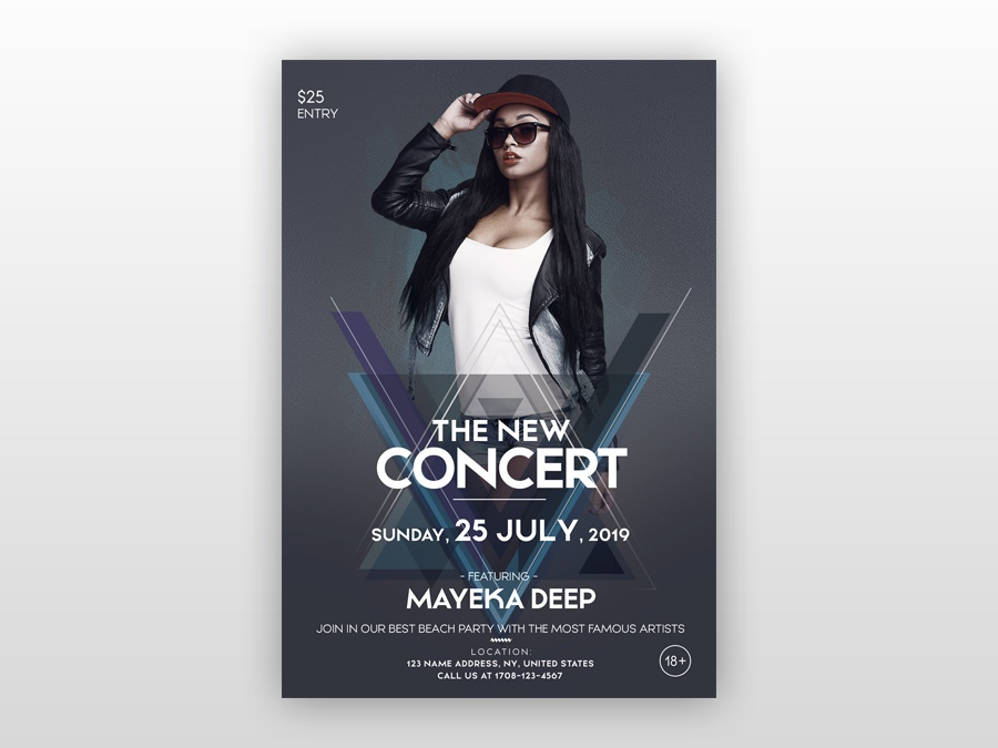 the concert party free psd flyer template by pixelsdesign net